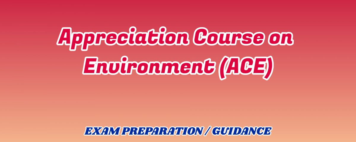 Appreciation Course on Environment ignou detail