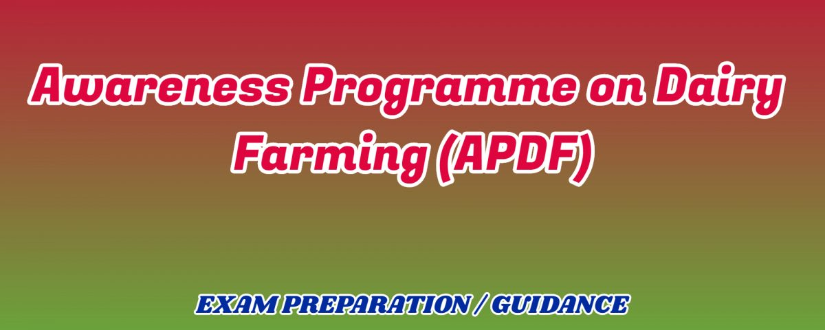 Awareness Programme on Dairy Farming ignou detail