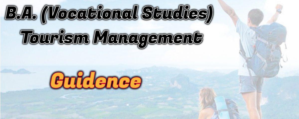 Ignou B.A. (Vocational Studies) Tourism Management