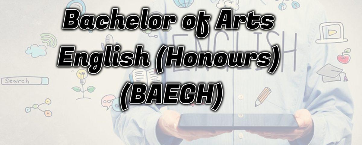 ignou Bachelor of Arts English (Honours)