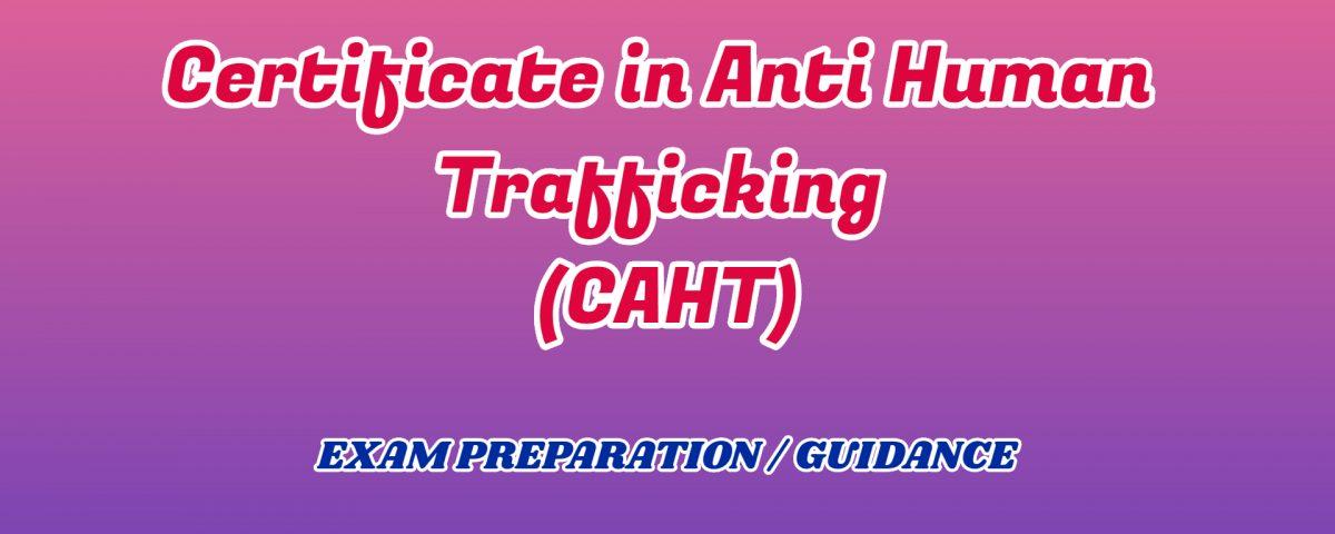 Certificate in Anti Human Trafficking ignou detail