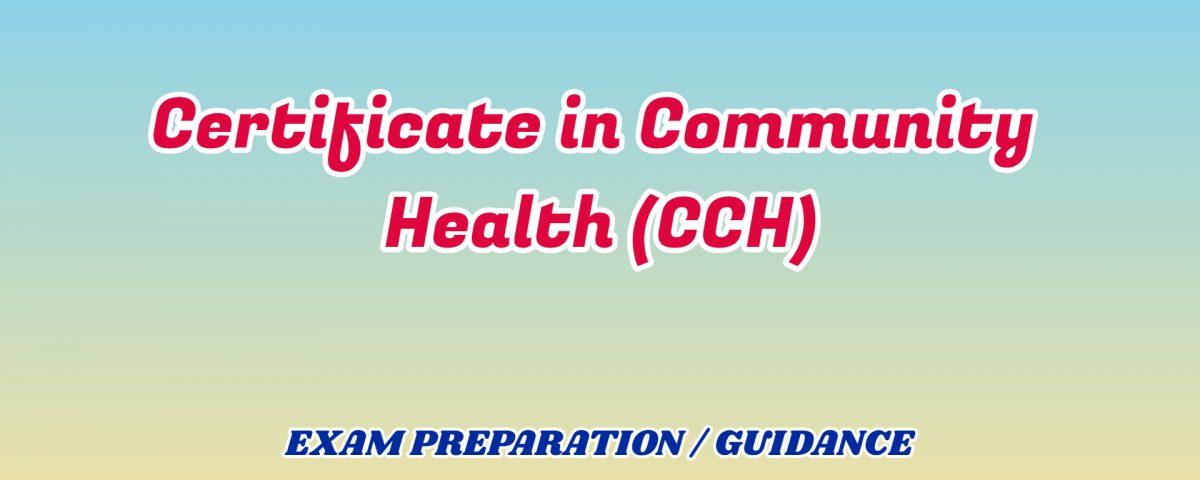 Certificate in Community Health ignou detail