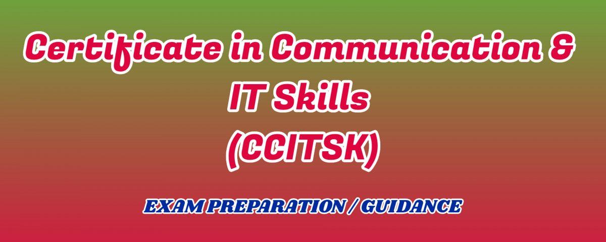 Certificate in Communication & IT Skills ignou detail