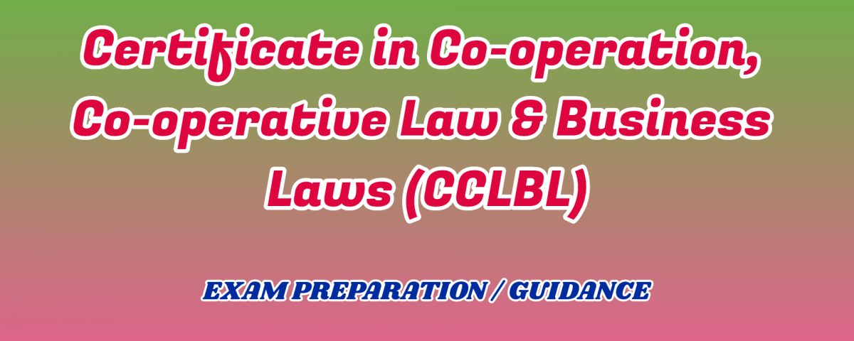 Co-operative Law & Business Laws ignou detail