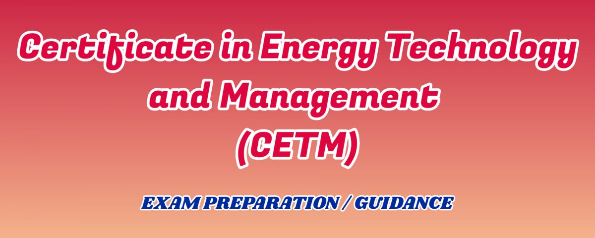 Certificate in Energy Technology and Management ignou