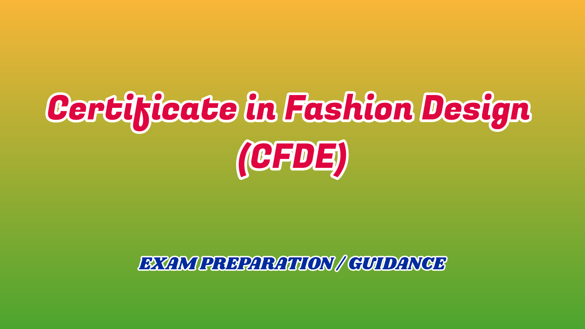 Certificate In Fashion Design Cfde Ignou Friend