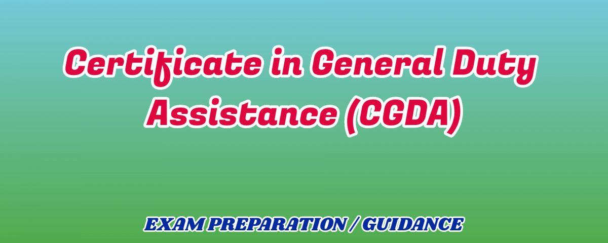Certificate in General Duty Assistance ignou detail