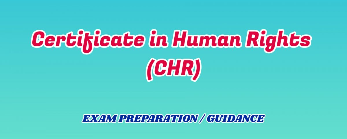 Certificate in Human Rights ignou