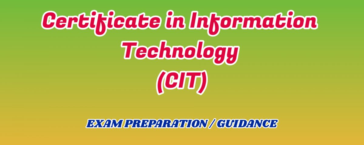 Certificate in Information Technology ignou detail