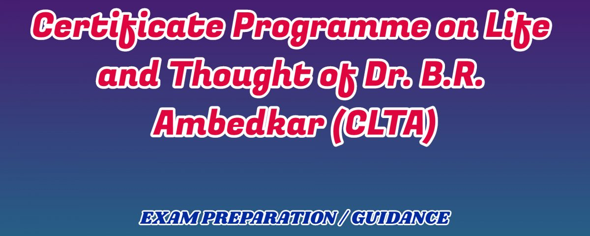 Life and Thought of Dr. B.R. Ambedkar ignou detail
