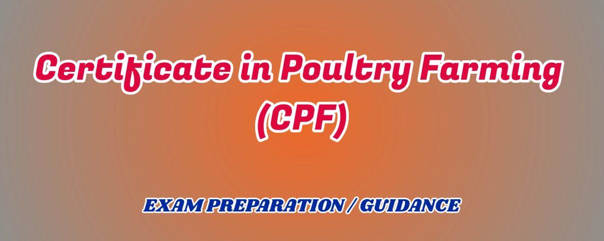 Certificate in Poultry Farming ignou detail