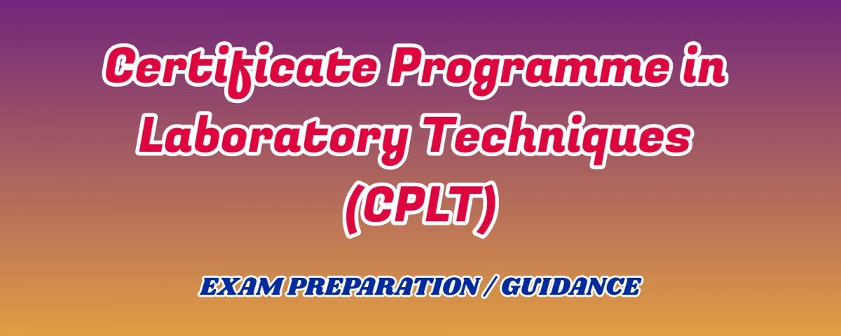 Certificate Programme in Laboratory Techniques ignou