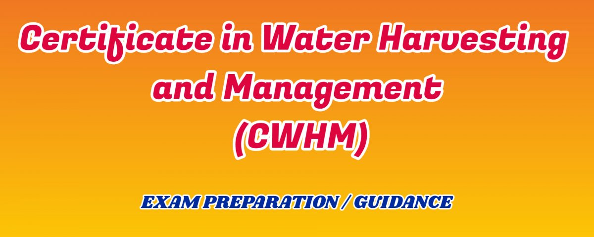 water Harvesting and Management ignou