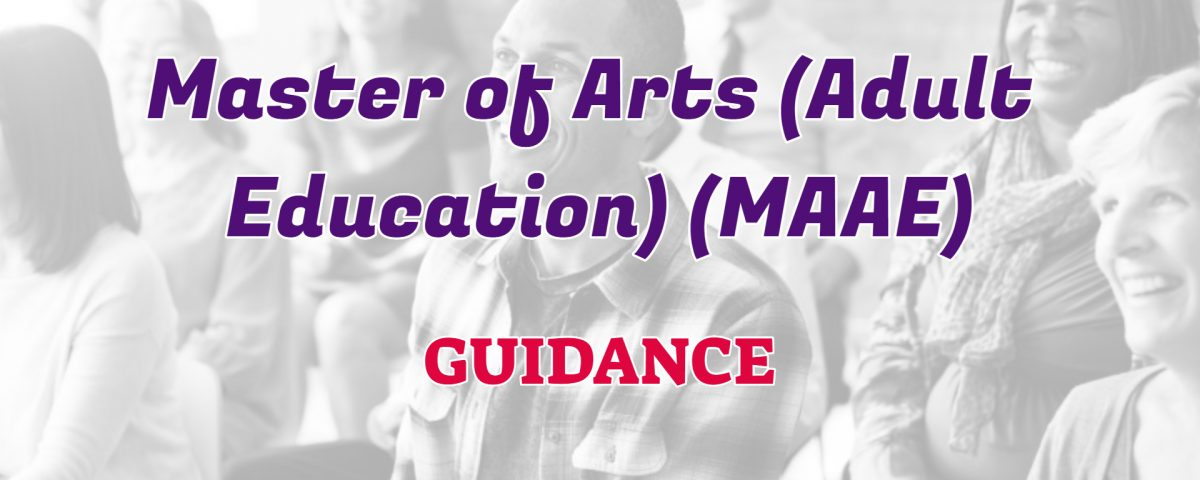 master and arts in adult education ignou guidance