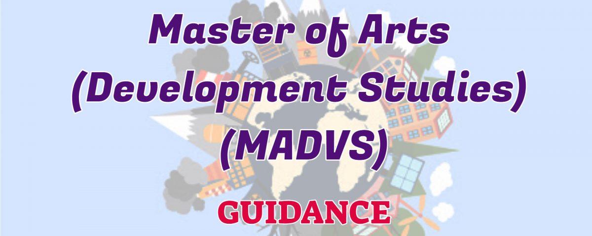 Master of Arts Development Studies MADVS