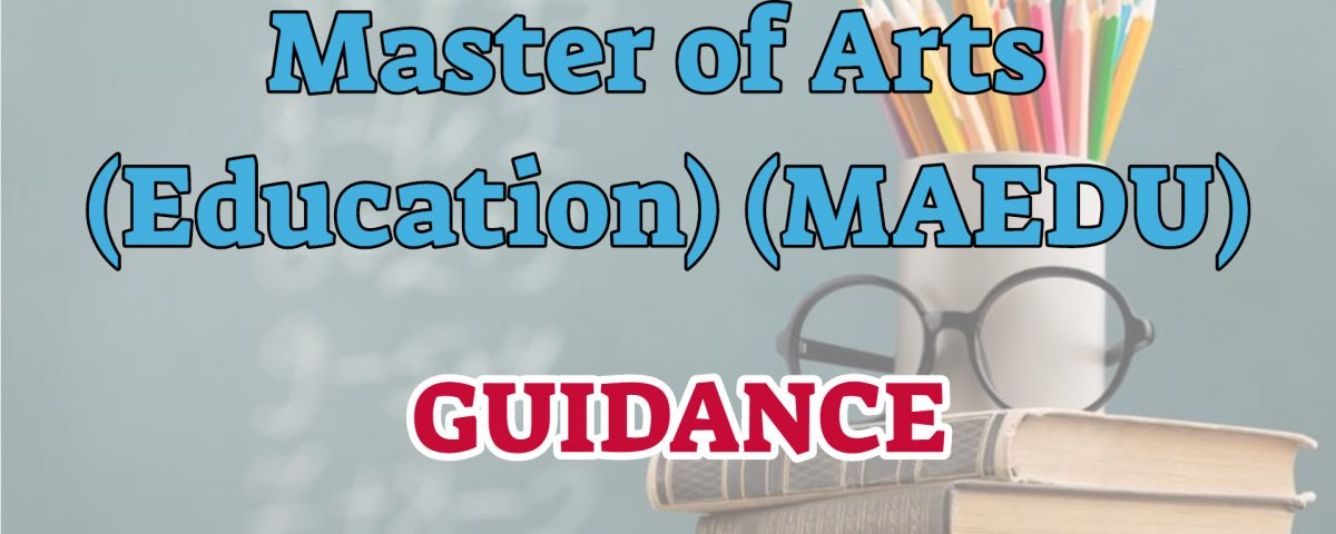 Master of arts in education ignou with guidance