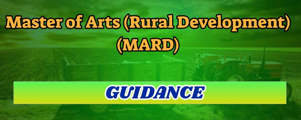 ignou master of arts in rural development mard