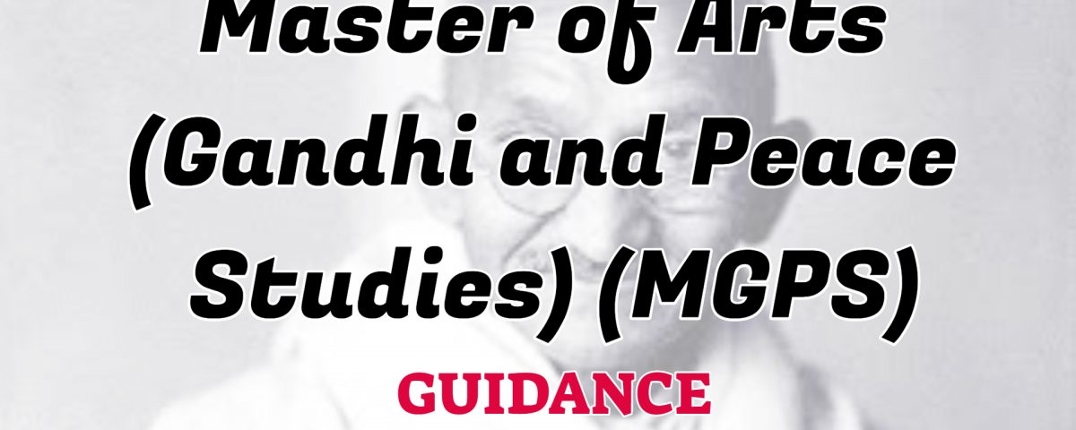 master of arts gandhi and peace study