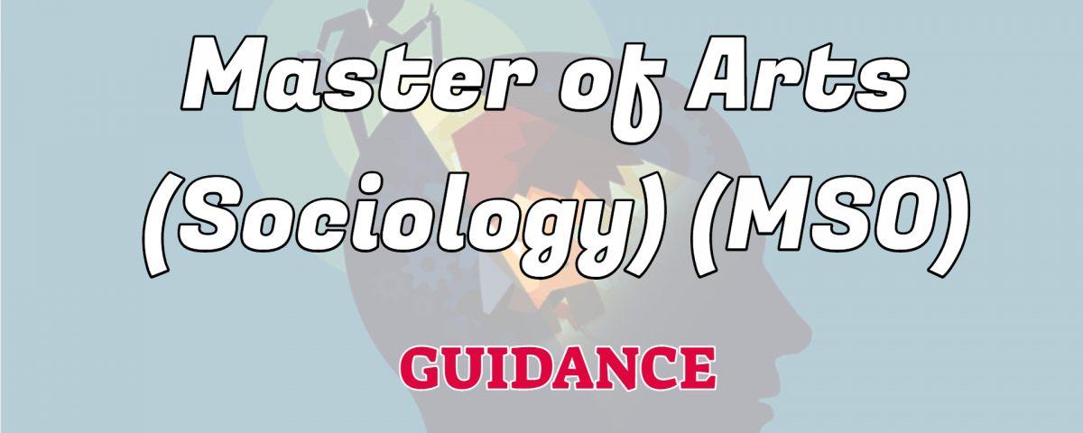 master of arts sociology ignou guidance