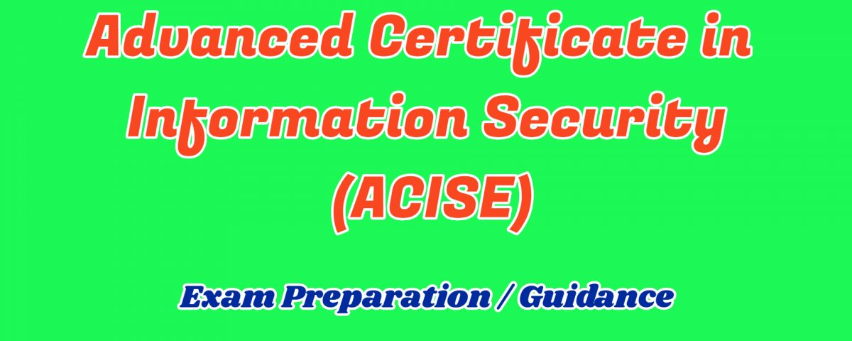 ignou advance certificate in information security support and guidance