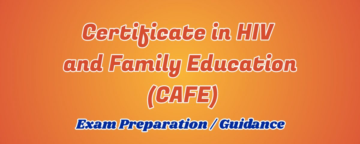 certificate in hiv and familu education ignou