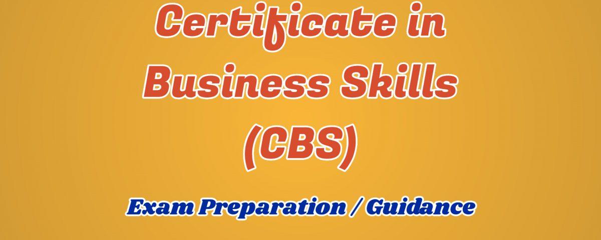 ignou certificate in business skills cbs