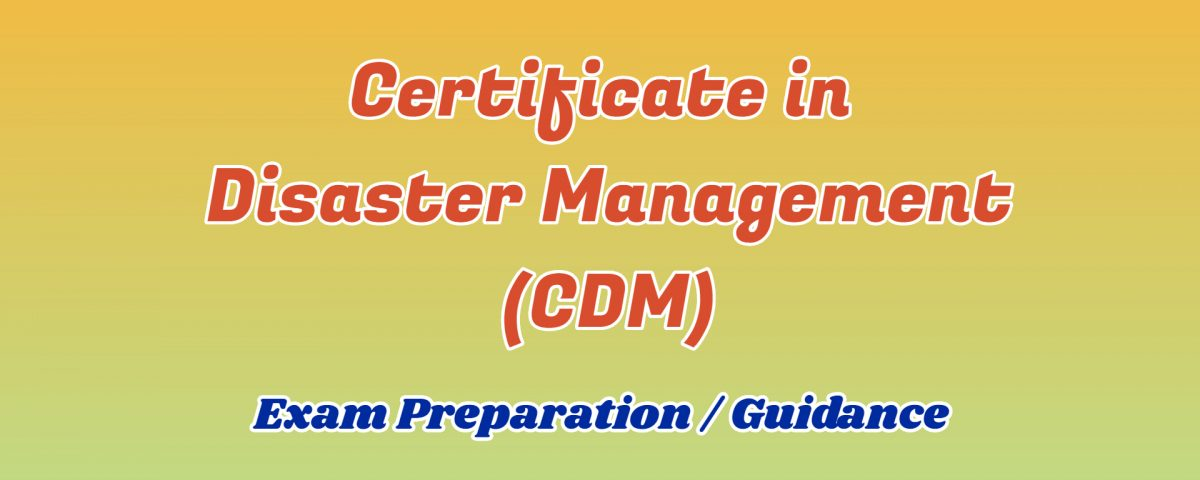 certificate in disaster management ignou