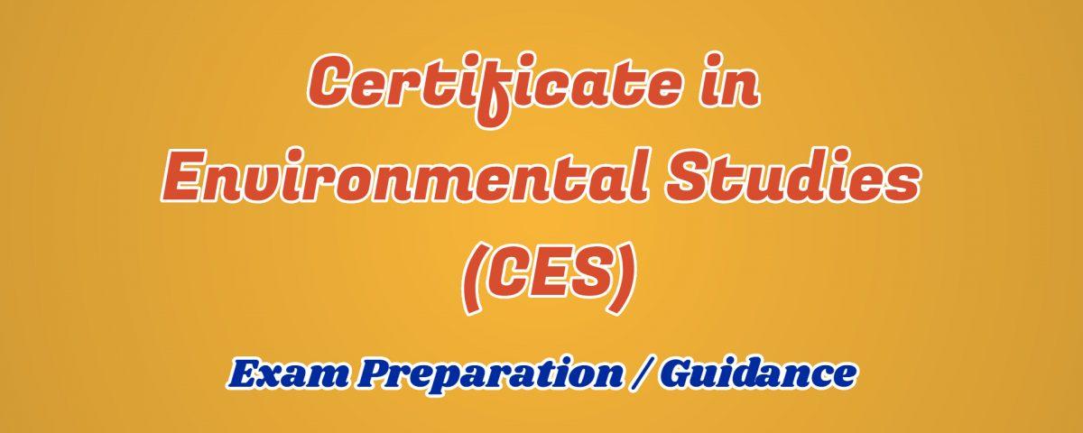 certificate in environmental studies ignou