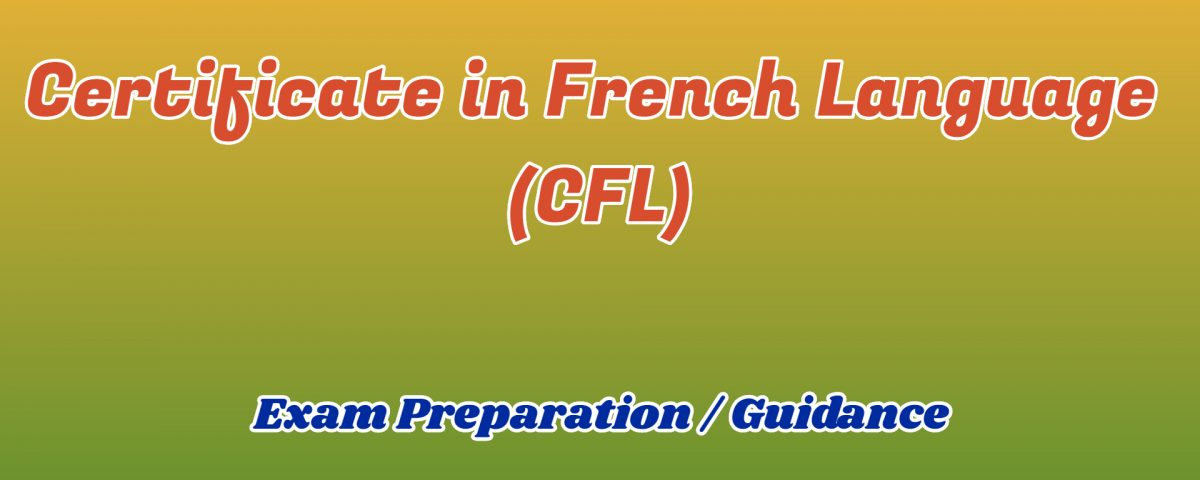 certificate in french language ignou