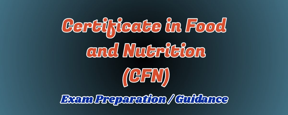 certificate in food and nutrition ignou