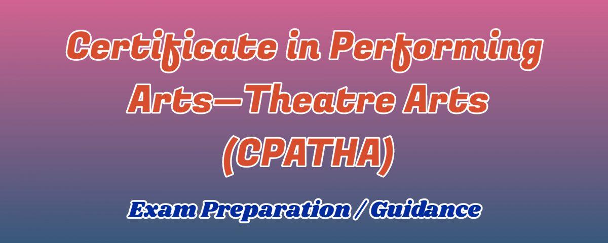 Certificate in Performing Arts—Theatre Arts