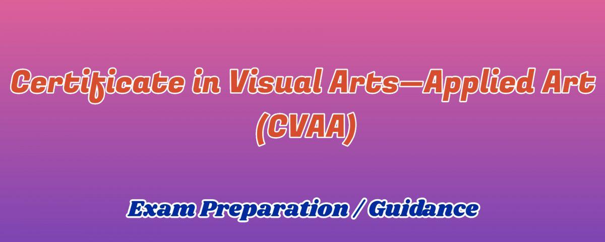 Certificate in Visual Arts Applied Art ignou