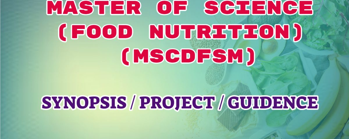 master of science food and nutrition ignou guidance