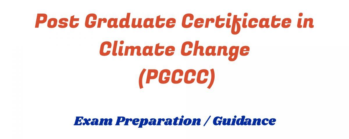 Post Graduate Certificate in Climate Change ignou