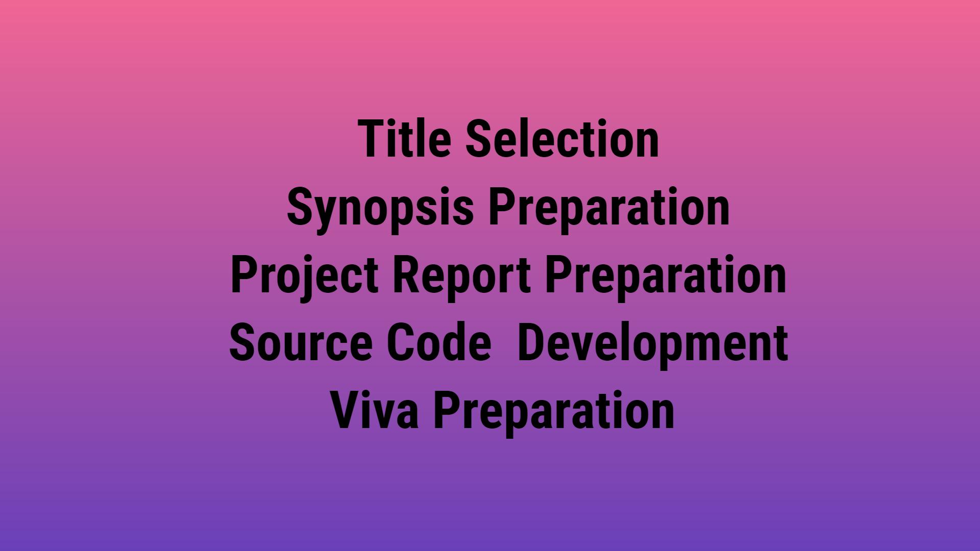 ignou bca project steps