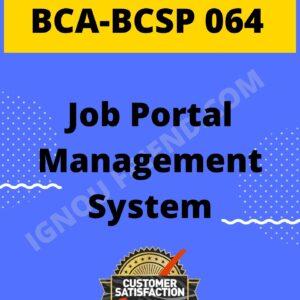 ignou-bca-bcsp064-synopsis-only-Job Portal Management System