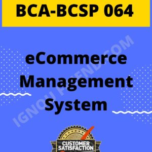 ignou-bca-bcsp064-synopsis-only-eCommerce Management System
