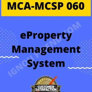 Ignou MCA MCSP-060 Synopsis Only, Topic - eProperty Management system