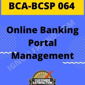 ignou-bca-bcsp064-synopsis-only- Online Banking Portal Management System
