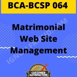 ignou-bca-bcsp064-synopsis-only-Matrimonial Website Management System