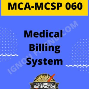 Ignou MCA MCSP-060 Synopsis Only, Topic - Medical Billing Management system