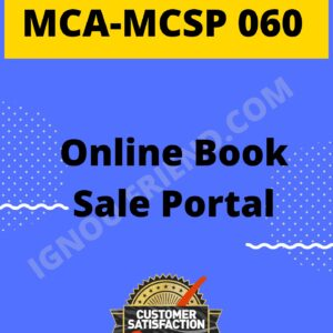 Ignou MCA MCSP-060 Synopsis Only, Topic - Online Book Sale Portal