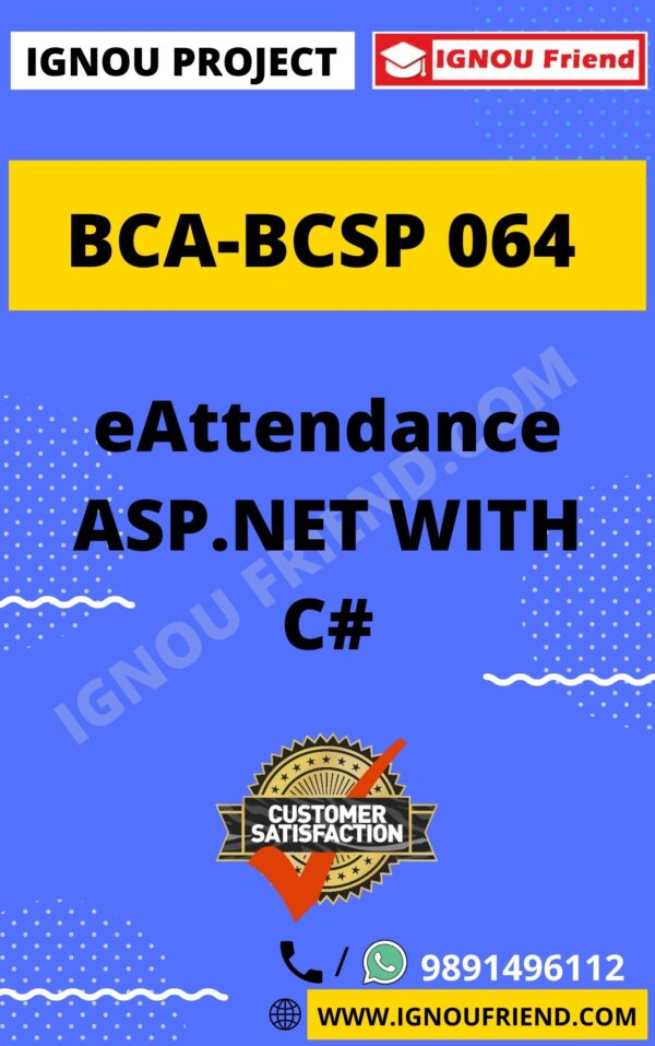 ignou-bca-bcsp064-synopsis-only- eAttendance ASP.NET with C#