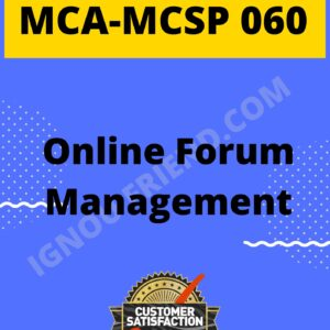 Ignou MCA MCSP-060 Synopsis Only, Topic - Online Forum Management System