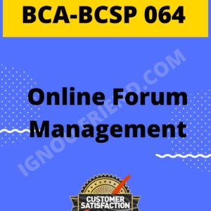 ignou-bca-bcsp064-synopsis-only-Online Forum Management System