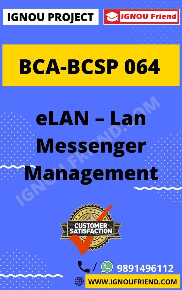 ignou-bca-bcsp064-synopsis-only- eLAN - Lan Management System