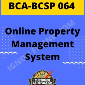 ignou-bca-bcsp064-synopsis-only- Online Property Management System