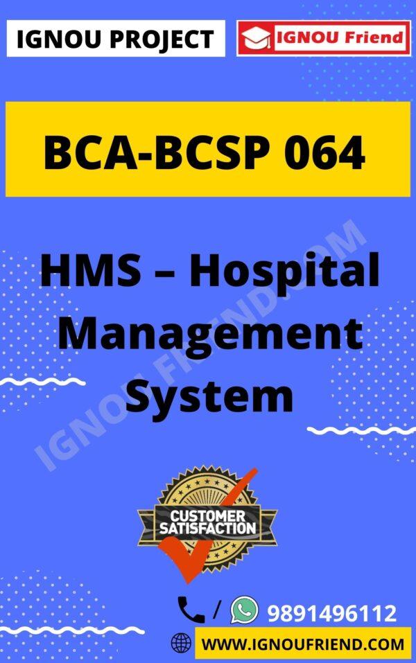 ignou-bca-bcsp064-synopsis-only- HMS - Hospital Management System
