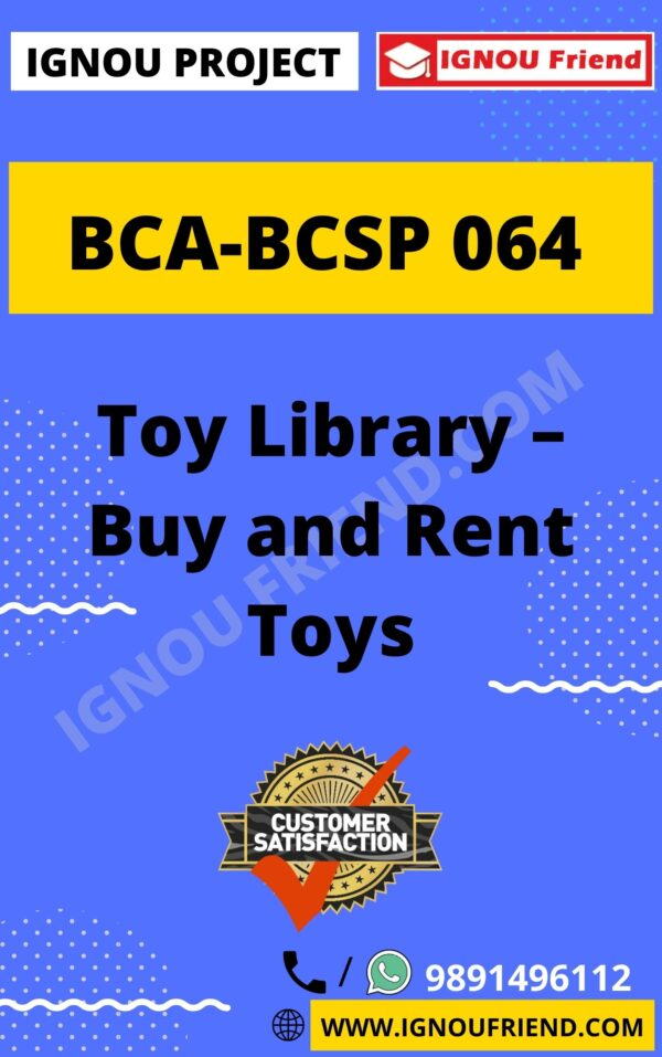 ignou-bca-bcsp064-synopsis-only- Toy Library - Buy and Rent Toys