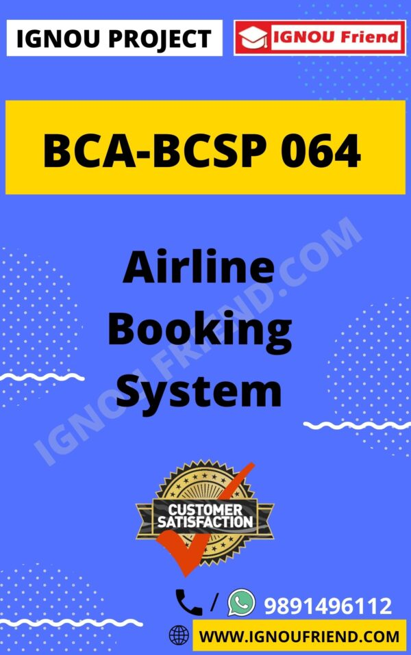 ignou-bca-bcsp064-synopsis-only- Airline Booking System